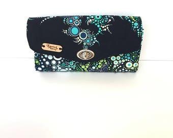 Cotton clutch, Cotton wallet, Cotton handbag, Clutch wallet, Fabric clutch, Envelope wallet, Travel wallet, Phone wallet, Checkbook wallet