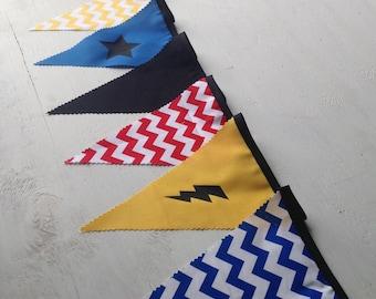 Fabric Bunting - Superhero Combo