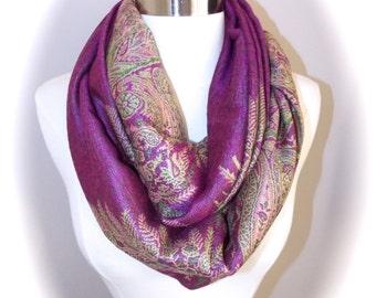 Paisley pashmina scarf