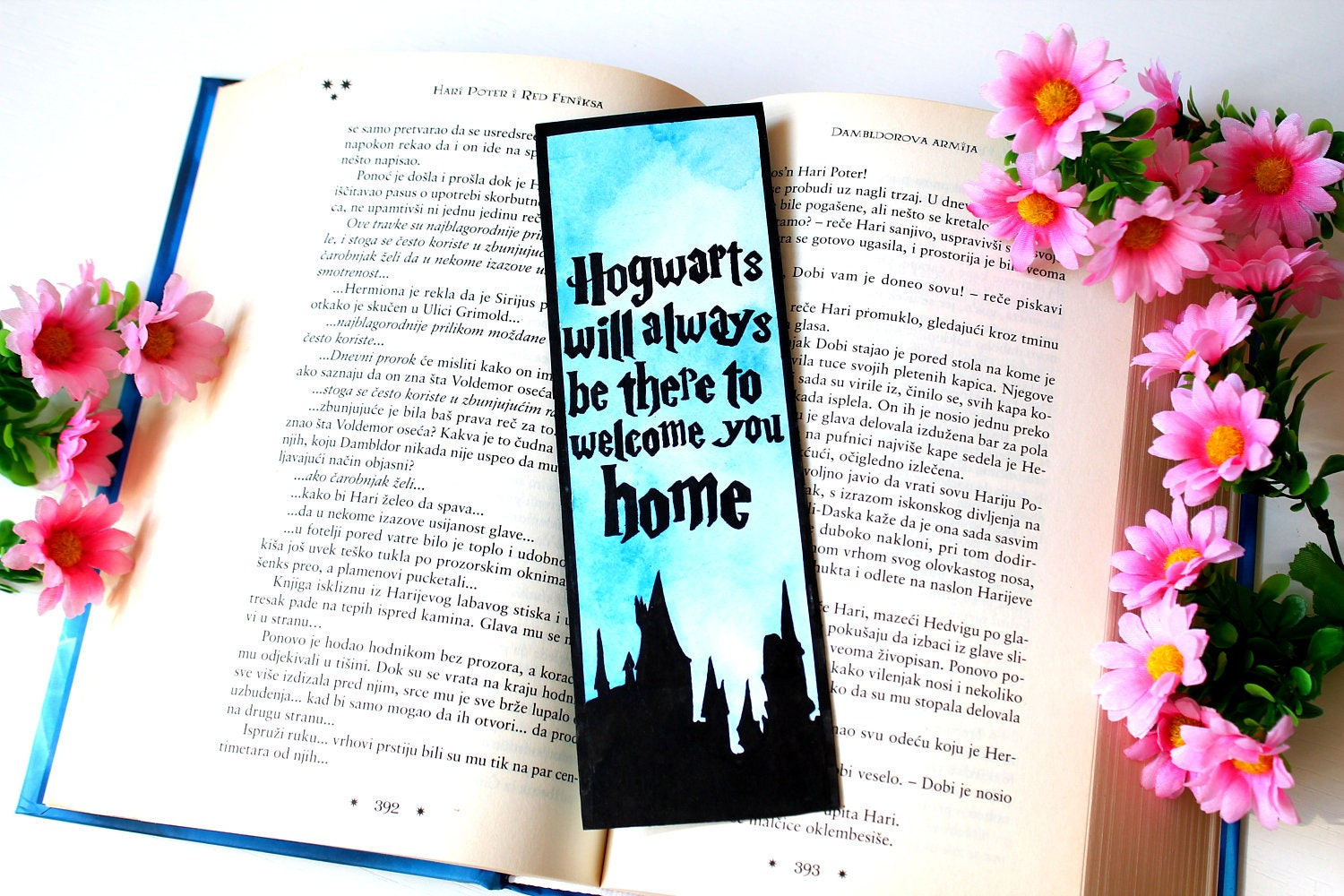 Harry Potter bookmark Harry Potter gift Hogwarts gift Hogwarts