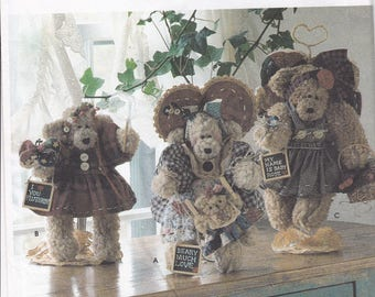 "FREE US SHIP Simplicity 7004 Sewing Pattern Dream Babies N Stitches 12"" Bear Dolls & Clothes Uncut 1996"