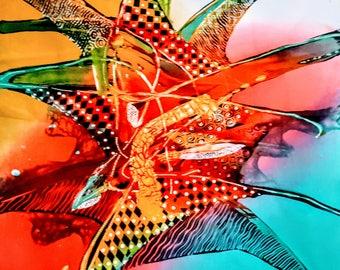 Indonesian Batik Painting   Bali Art    Vintage collector's Item