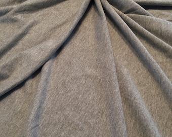 HEATHER grijs 95/5 katoen Lycra Spandex Frans Terry, 4 manier rekken, 12oz gewicht, BTY door de werf