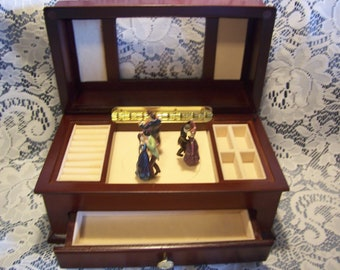 Musical Jewelry Box with Dancing Couples