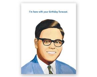 Weatherman Birthday Card
