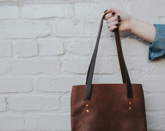 The [smaller brown] Tote
