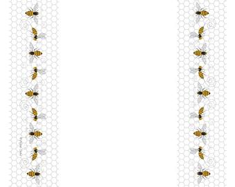 NEW! Honey Bees and Honeycomb Tea Towel