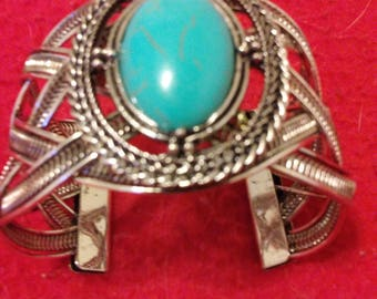 Turquoise. open cuff.