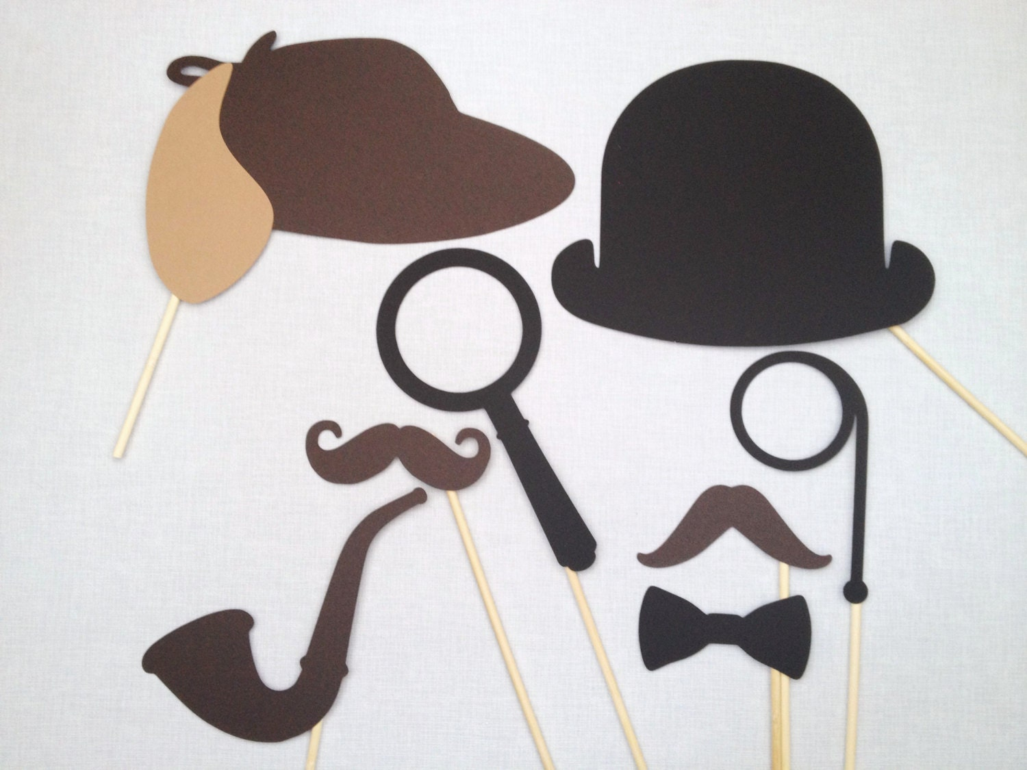 8 Sherlock Holmes and Watson Photo Booth Props Book Club