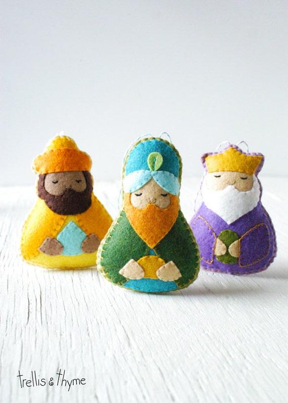 PDF Pattern - The Magi, Nativity, Three Wise Men Ornament Pattern ...