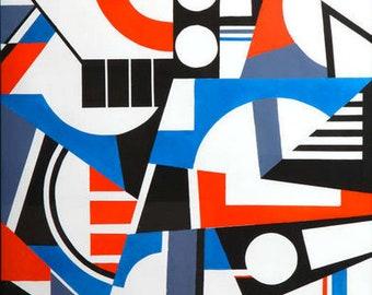 Cubist Gouache Painting