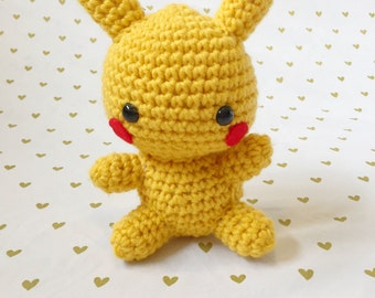 Pikachu, Crochet pikachu, Amigurumi pikachu