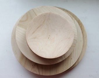 Wooden plate 13 cm 5,11 inch unfinished natural eco friendly