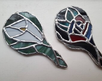 Mini Stained Glass Hand-Mirrors