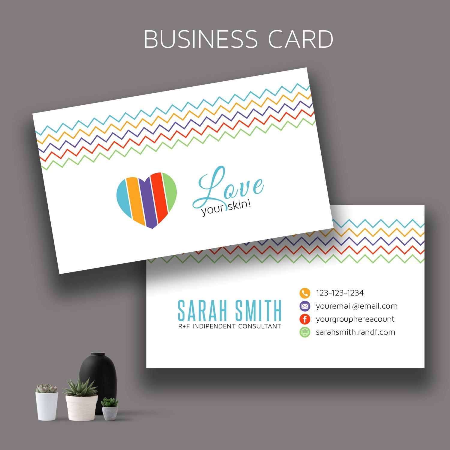 Rodan and Fields Business Cards Skincare Business Card RF