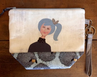 knitting or crochet project bag