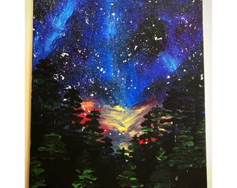 Night Sky Painting on Canvas