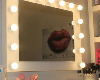 Bright makeup mirror 15 wall sockets