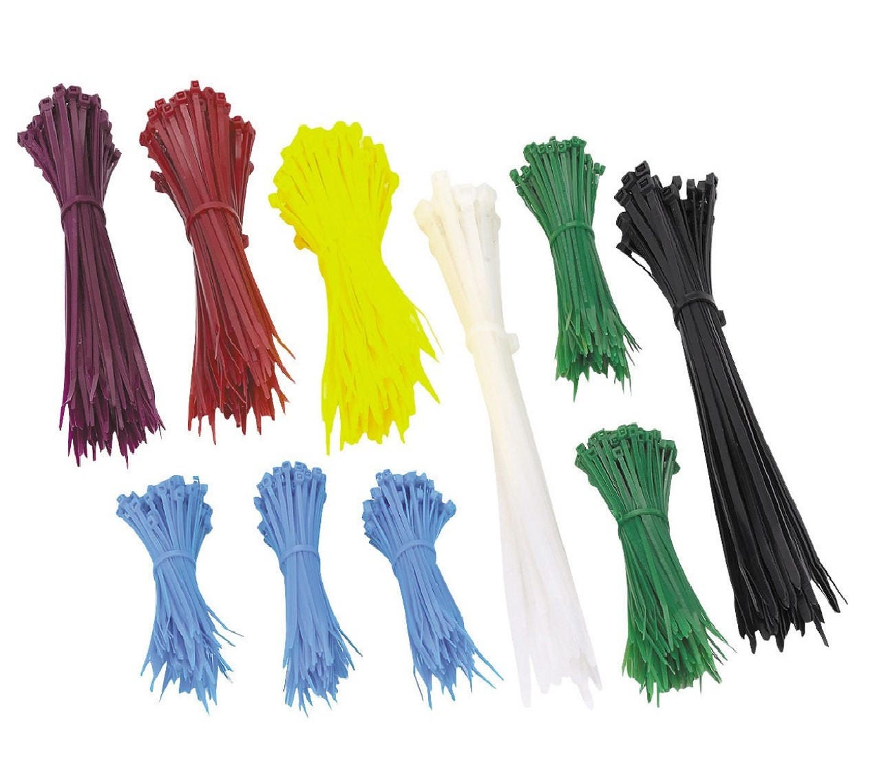 Cable Zip Ties 1000pcs Mixed Colors Nylon hobby and craft gardening ...