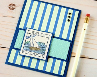 Sailboat Birthday Cards Nautical Themed Happy Birthday Cards For Boyfriend Dad Birthday Card For Husband Stampin Up Cards