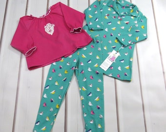 3 Piece Set, Baby Girl, Size 18 Months, One of a Kind, Handmade, Cotton Knit, Corduroy, Mix and Match, Soft, Comfortable, Euro Styling