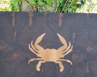 Maryland Crab Inlaid Butcher Block
