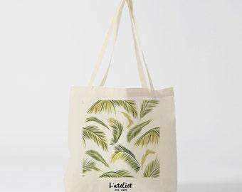 X95Y Tote bag Palm, bag canvas cotton bag, diaper bag, handbag, tote bag, bag of race, current bag, shopping bag