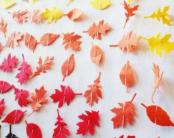 Fall Leaf Garland Vertically Hanging