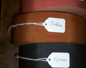 2 inch petersham ribbon in colors vintage cotton and rayon orange