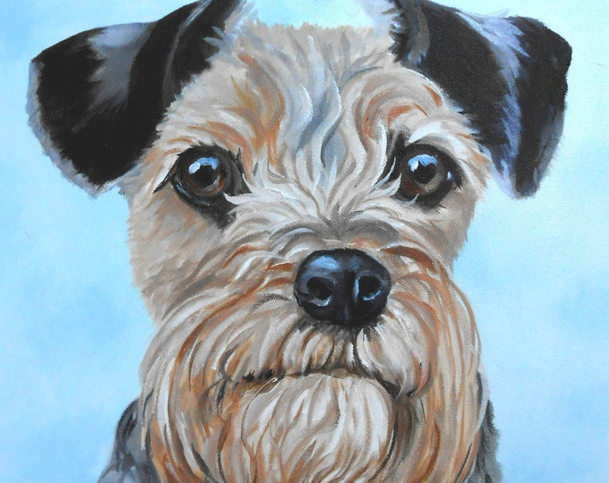 Dog Portrait Oil Painting, small original of your pet Gift Certificate