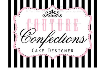 Premade Logo design- Couture Confections Logo Design