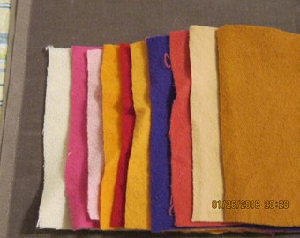 """6x6"""" wool square for applique"""