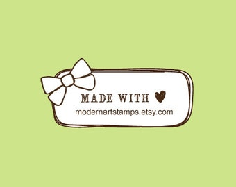 Custom Rubber Stamp - Custom Stamp - Personalized Stamp - Bow - C547