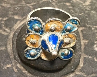 Antique enamel ring