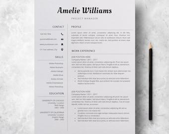 Modern Resume Template | Professional CV Design | CV Template for Word | Creative Resume | Resume Design Template | Instant Download