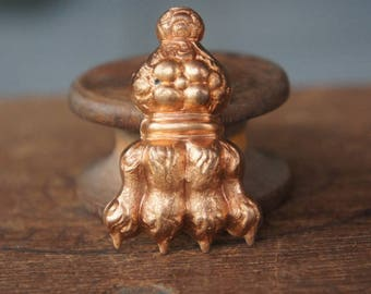 Vintage French Brass Stamping/Antique Style/Lion Paw/Fierce/Victorian/Art Nouveau/French Findings