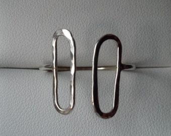Adjustable sterling silver delicate ring