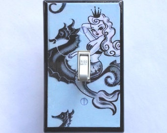Selection of Mermaid switch plates & outlet Covers- MATCHING SCREWS- Mermaid wall art decoration mermaid switch cover vintage mermaid pinups