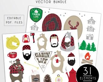 The Cabin Life Vector Bundle (Clip Art)