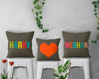 3 personalized pillow covers - Anniversary gifts - 3 customizable pillows - Gifts for couples - Romantic gift - Gift for boyfriends