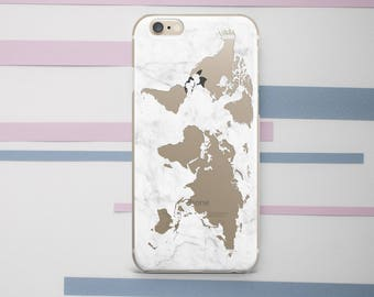 World map 8 plus etsy world map marble iphone case marble iphone 8 case world map iphone x case marble iphone gumiabroncs Images