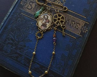 "Brooch - Victorian brooch - steampunk jewelry - cogs - love - ""The Mechanic of my heart"""