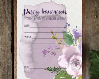 PDF Printable Invitations: Bouquet de Mariee