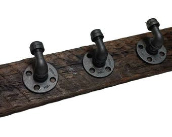 "Custom Barnwood Coat Rack - 23"" W x 4"" H x 3"" D"