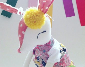 Easter bunny , bunny , rabbit , handmade doll , cloth doll , soft toy , stuffed toy , easter gift , ready to ship , cemarked , doll , cute