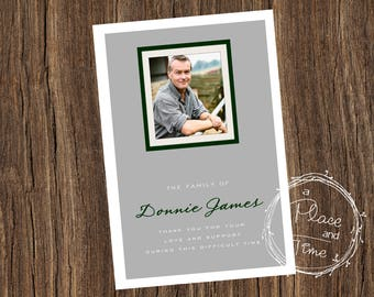 Personalized Thank You Funeral/Memorial Card