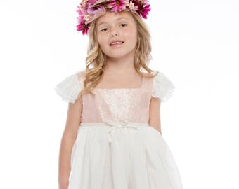 Lavender Purple Flower Crown -- Flower Girl Flower Crown -- Bridesmaids Flower Crown
