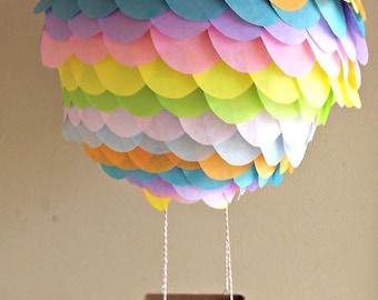 Pastel Hot Air Balloon Lantern Decoration-Hot Air Balloon Party-Rainbow Party-Unicorn Party-Mobile Decoration-Nursery Decorations