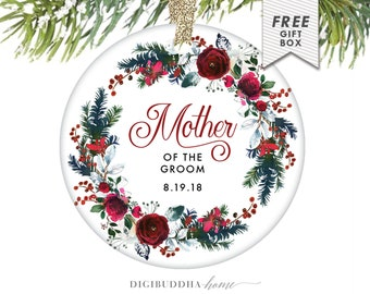 Mother of the Groom Christmas Ornament, Mother of the Groom Gift Mother of the Groom Gifts from Bride, Personalized Mother Gift from Son