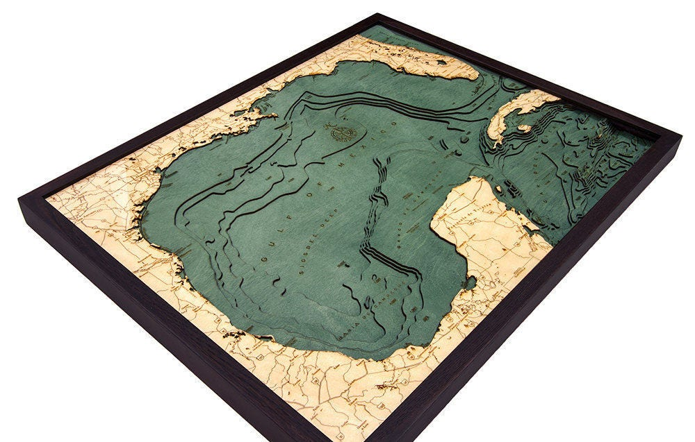 gulf of mexico wood carved topographic map gallery photo gallery photo gallery photo